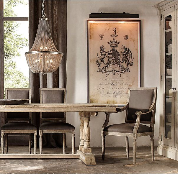 RHu0027s Willems Rectangular Dining Table:Architectural In Design, Our Table  Incorporates The Baluster
