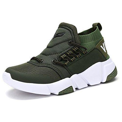 801e758a10 VITIKE Garçons Filles Engrener Sneaker de Plein Air Athlétique Caleçon Sur  Décontractée Fonctionnement Chaussures(Bambin