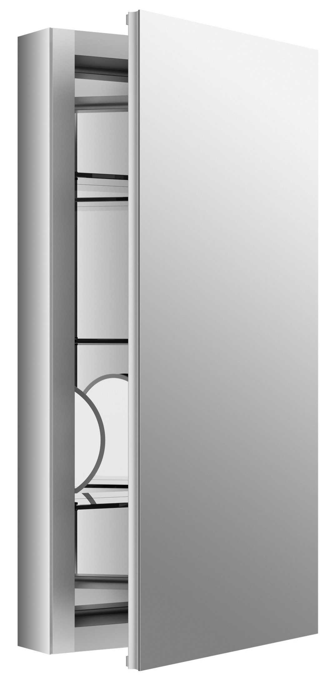 Kohler Verdera 15 In W X 30 H Recessed Medicine Cabinet Anodized Aluminum I Like The Magnified Gl On Inside