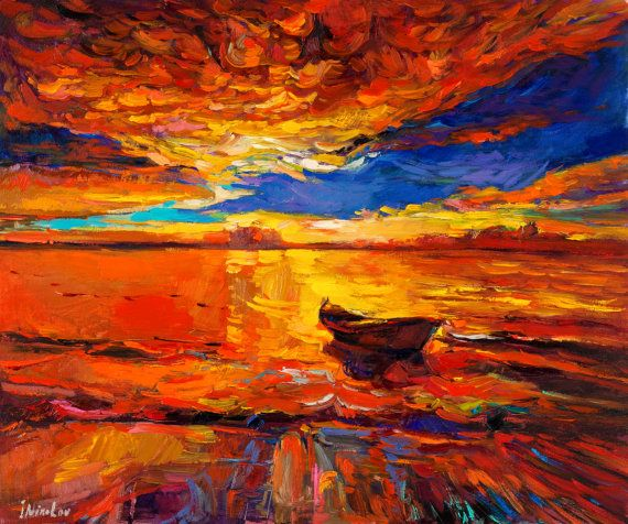 Pintura al óleo, pintura del paisaje, arte de la lona, arte ...