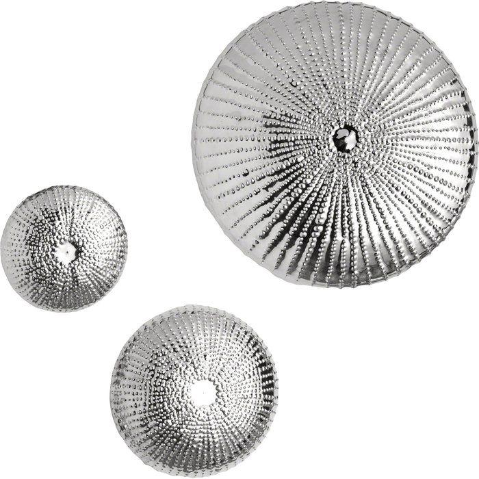 Sea Urchin Wall Decor Silver Walls Silver Home Accessories