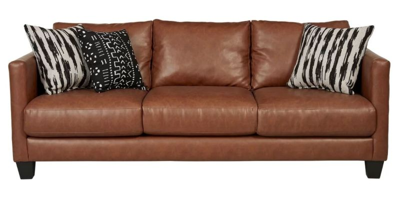 8 brown faux leather couch options you