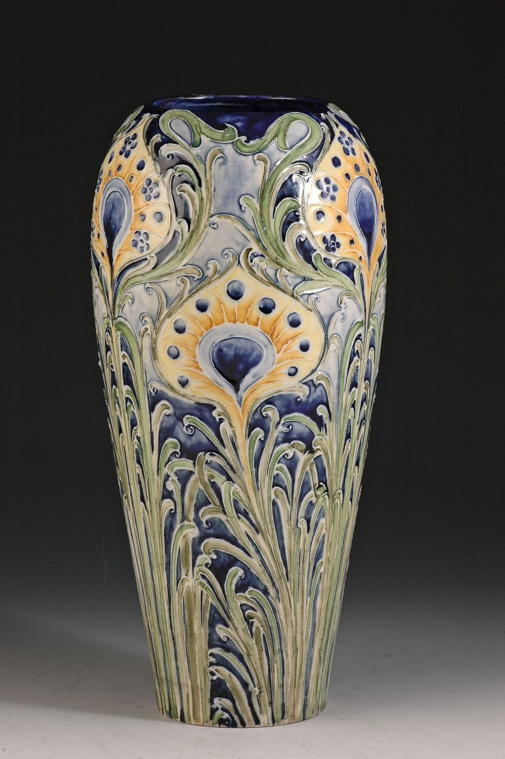Andrew Muir | Clarice Cliff, Art Deco Pottery, Moorcroft and 20th Century Ceramics Dealermoorcroft pottery 'Peacock feather' vase C1902