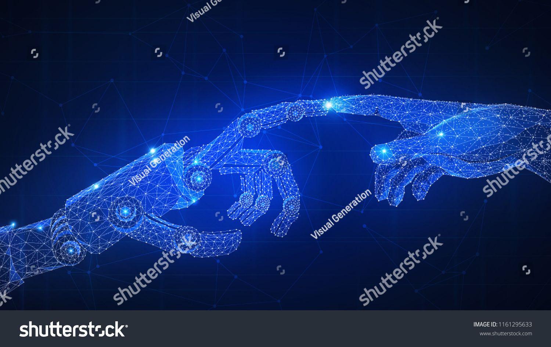 Robot Arm Touching Human Hand Automatization Robotics 4ir Fourth Indust Fourth Industrial Revolution Rochester Institute Of Technology Industrial Revolution