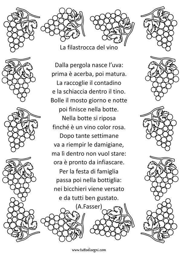 Extrêmement Autunno - Filastrocca del vino - Tutto Disegni | festival dei  OV99