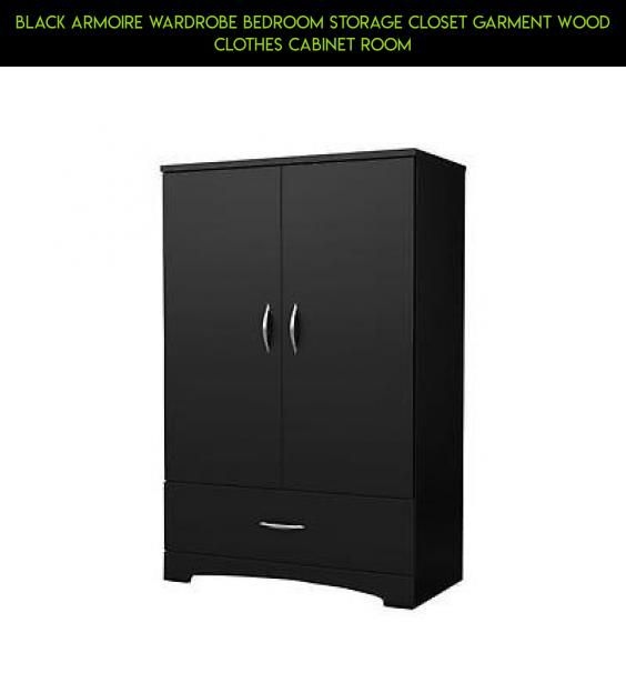 Black Armoire Wardrobe Bedroom Storage Closet Garment Wood Clothes Cabinet  Room #shopping #products #