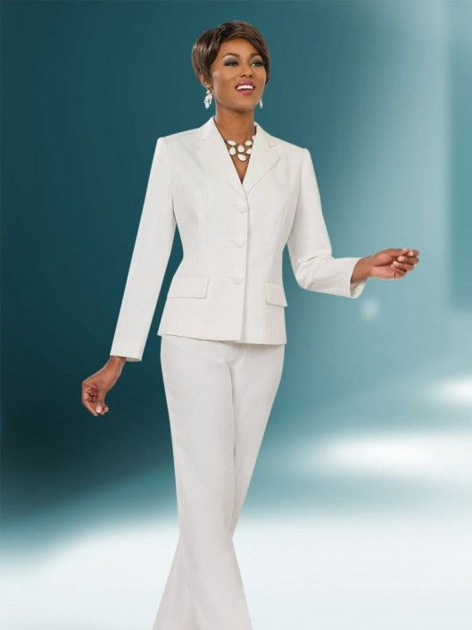 83a760da04b Style 11485 from Ben Marc Executive is a two piece women s pant suit which  features a 24 inch long sleeve jacket and 42 inch pants.