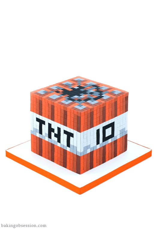 Minecraft Tnt Cake Baking Obsession Minecraft Cake Minecraft Birthday Cake Minecraft Cake Cupcakes