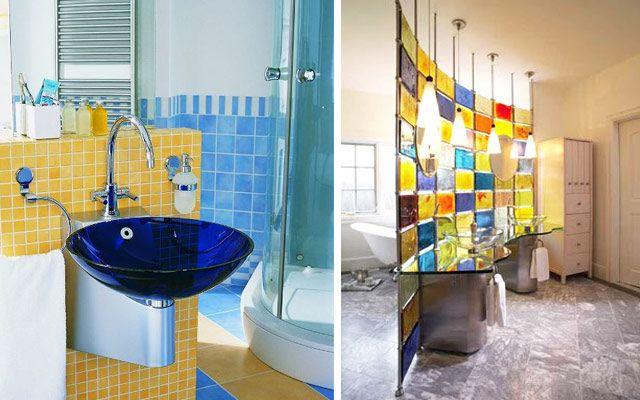 48 ejemplos de decoraci n de ba os en cristal decoraci - Cristales para bano ...