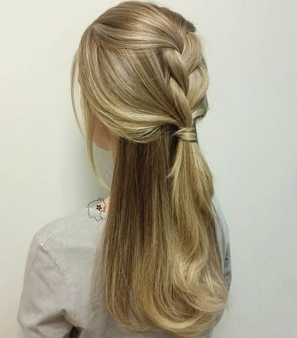 Simple+Braided+Half+Updo+For+Thick+Hair