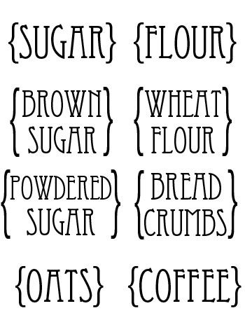 custom kitchen canister labels printables kitchen canisters