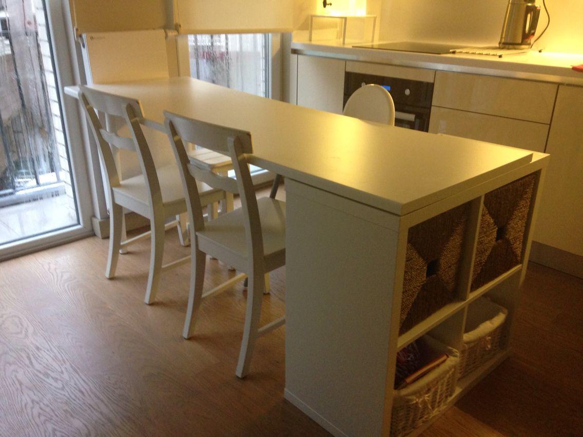 kleine zimmerrenovierung kucheninsel hack design, İkea hack kitchen island with kallax | diy for the home | pinterest, Innenarchitektur