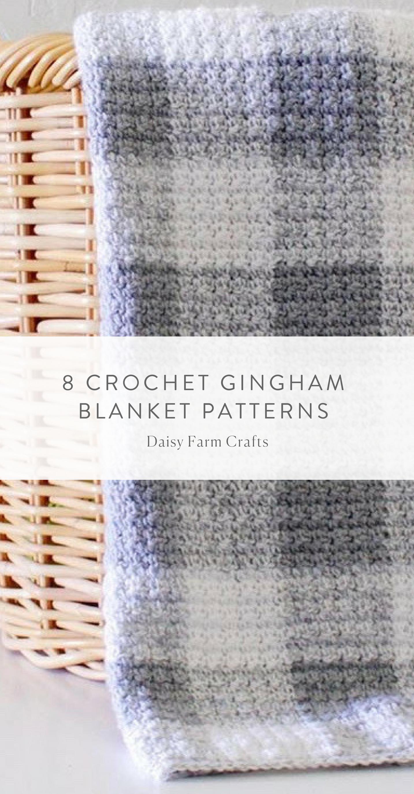 8 Crochet Gingham Blanket Patterns | Crochet | Pinterest | Crochet ...