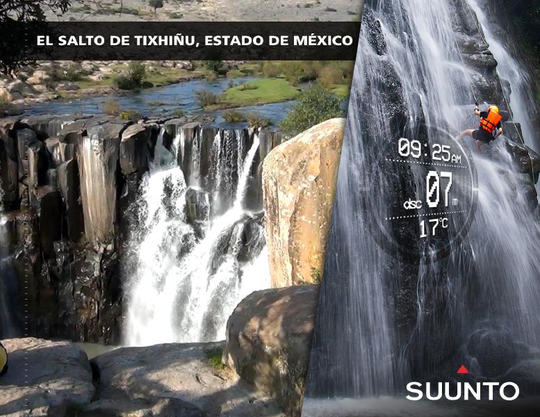 El Estado de México es famoso por sus paisajes naturales y por la práctica de rápel en las cascadas El Salto de Tixhiñú y La Concepción. Suunto