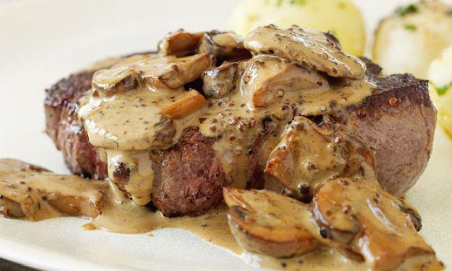 طريقة عمل بيكاتا بالمشروم Recipe Creamy Mushroom Sauce Creamy Mushrooms Stuffed Mushrooms
