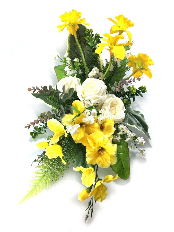 Kup Teraz Na Allegro Pl Za 44 00 Zl Stroik Wiosenny Na Grob Kompozycja Wiazanka 15 7177344649 Allegro Pl Radosc Zakupow I B Floral Wreath Wreaths Floral