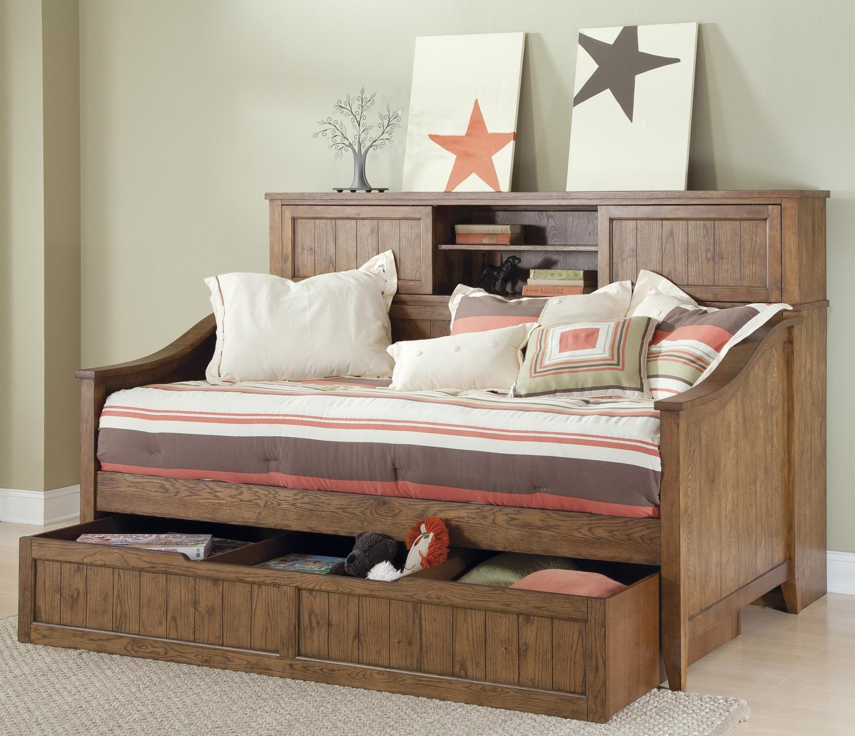 Cool trundle bed with drawers modern trundle beds Daybeds with storage