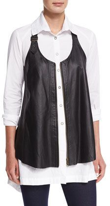 3bfd703ab9619b Women s Plus Size Clothing Sale at Neiman Marcus. XCVI Upstage Perforated Leather  Vest