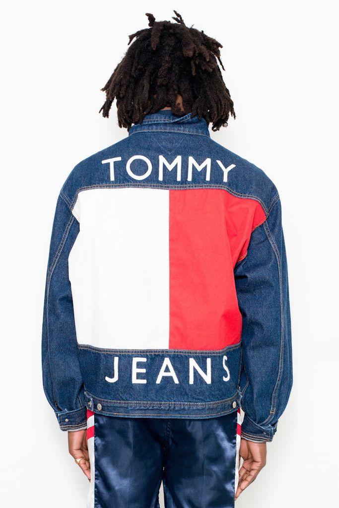 90 s Vintage Tommy Hilfiger Denim Logo Jacket   Vintage 80s 90s ... c14656f91c