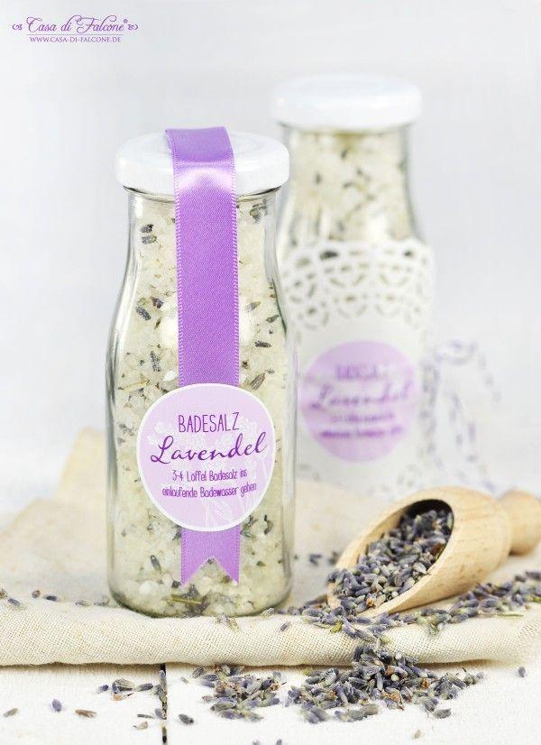 Badesalz mit Lavendel {Rezept} & Verpackungsideen | Rezeptideen ...