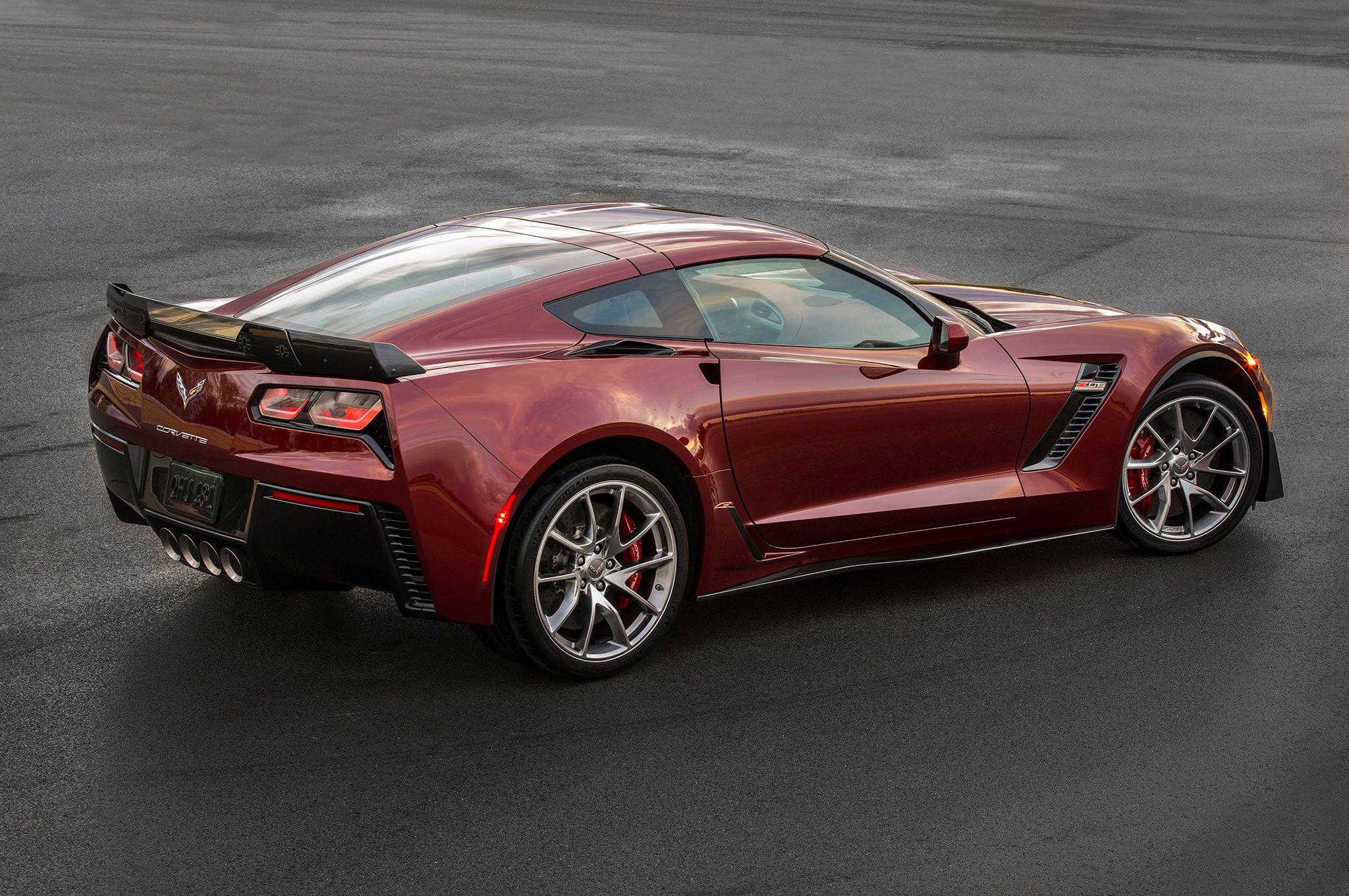 2016 Chevrolet Corvette Z06 Spice Red Design package rear three