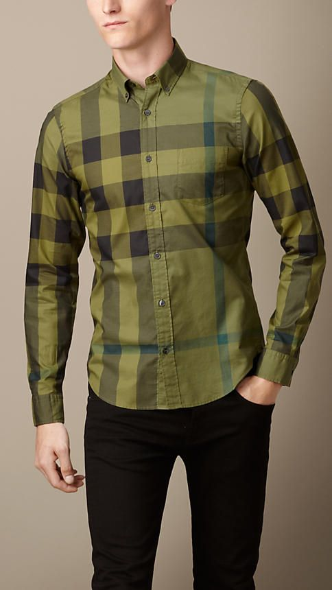 24daa89b737 Exploded Check Cotton Shirt