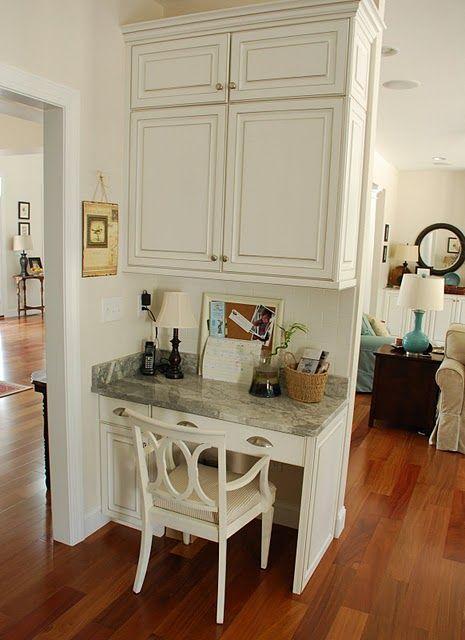 Two Carolina Nesters Organizing The Kitchen Office Area Kitchen
