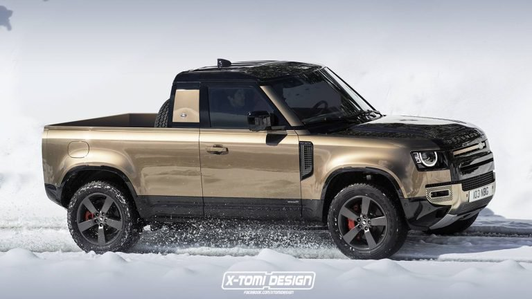 Too Bad Land Rover Dropped Plans For A 2020 Defender Pickup Isn T It Carscoops Land Rover Defender Pickup Land Rover Land Rover Defender