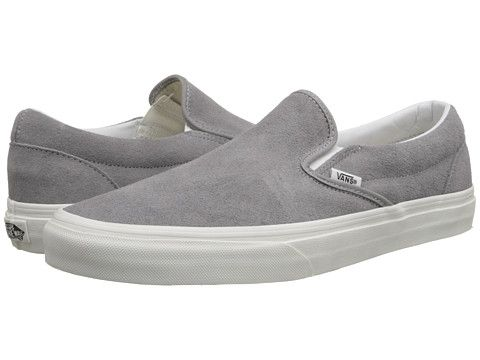 752035de82a Vans Classic Slip-On™ (Vintage) Frost Gray Blanc - Zappos.com Free Shipping  BOTH Ways