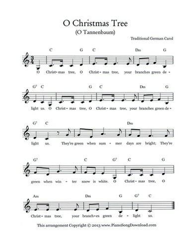 O Christmas Tree Lead Sheet Lead Sheet Piano Sheet Music Free Piano Tutorials