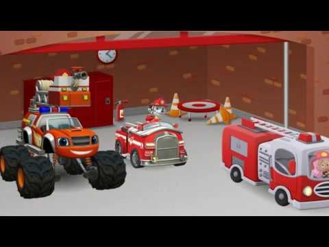 Paw Patrol And Blaze And The Monster Machines Firefighters On Nick