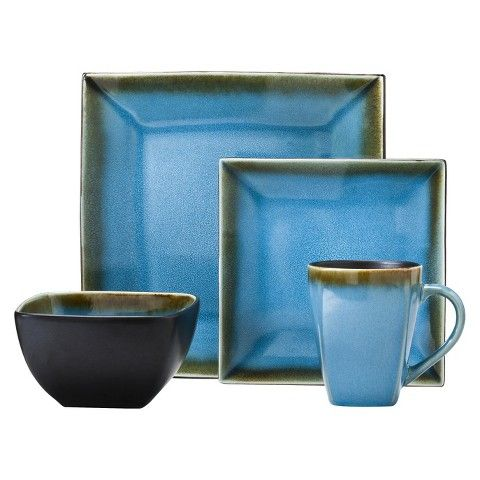 Threshold™ Elemental Ocean 16 Piece Stoneware Dinnerware Set - Blue  sc 1 st  Pinterest & Threshold™ Elemental Ocean 16 Piece Stoneware Dinnerware Set - Blue ...