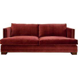 """So Luxurious.  Mackenzie 80"""" Velvet Sofa in Red"""