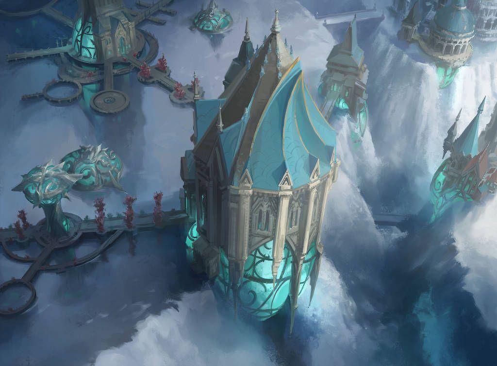 Simic Island By Fooyee In 2019 Fantasy Landscape Fantasy