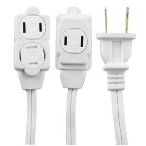 Ge 51954 12 Feet Extension Cord White Http Www Amazon Com Ge 51954 Feet Extension Cord Dp B00178hj6c Tag 757stuff00 20 Extension Cord Cord Outlet