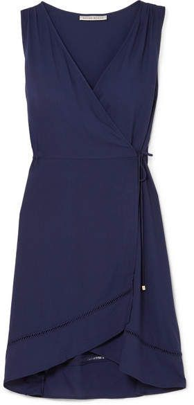 Anacapri Voile Wrap Dress - Navy Heidi Klein 3KMV6FxBr