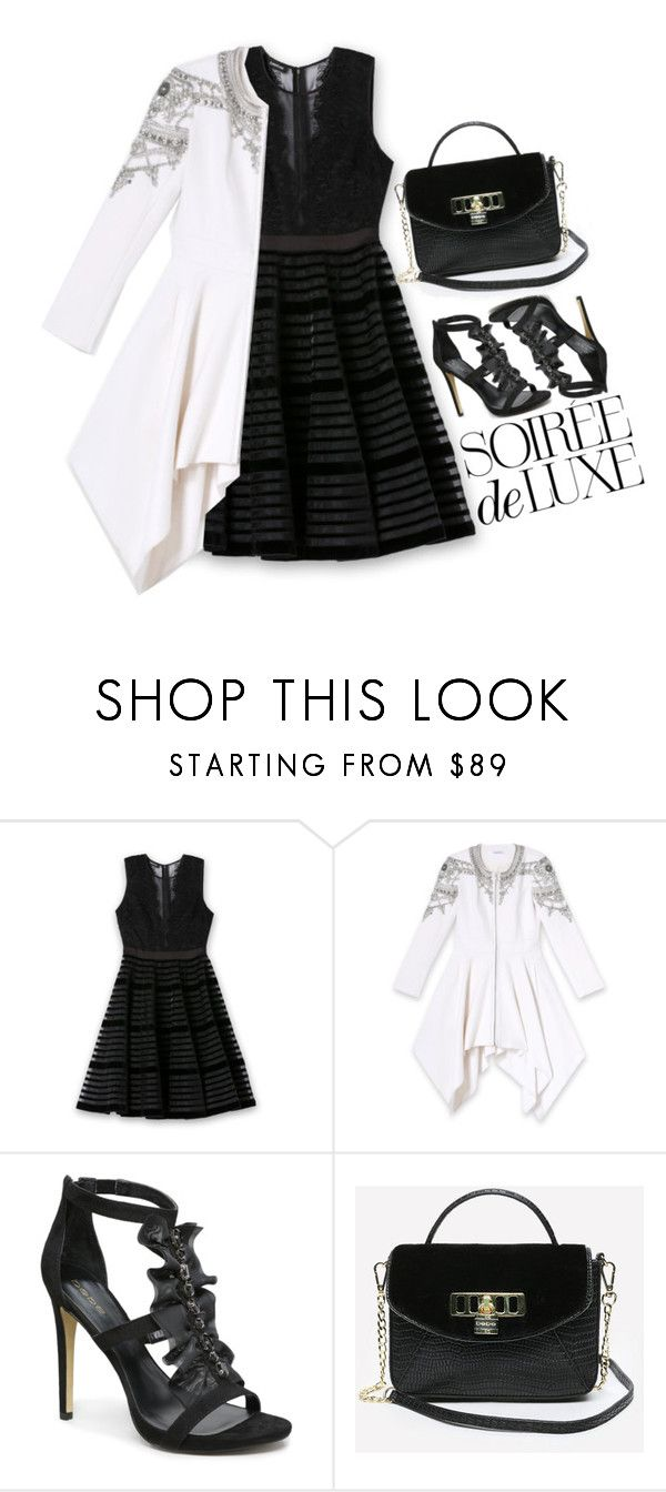 """""""Soirée de Luxe with bebe Holiday: Contest Entry"""" by sombrasdelcarax ❤ liked on Polyvore featuring Bebe"""