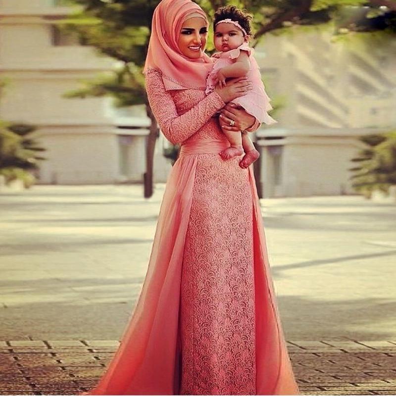 Abaya Dubai Kaftan Muslim Arabic Evening Dresses With Hijab Long ...
