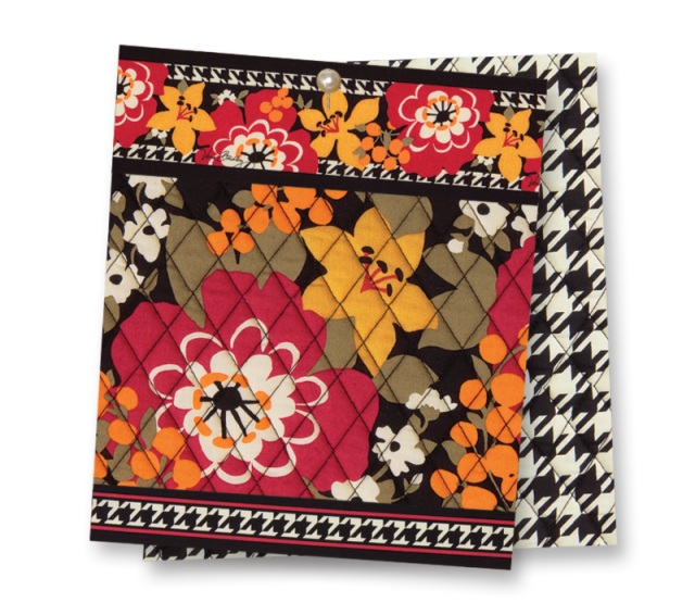 Vera Bradley's Bittersweet - Fall 2013. Great autumn palette mixed with houndstooth. Pure Poppy, Canyon Clay, Harvest Gold, Ripe Avocado?, True Black