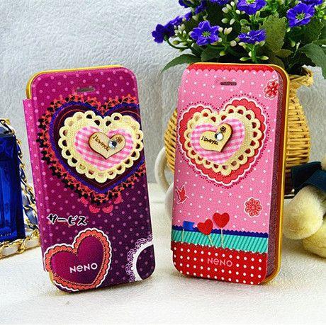 Cover   Galaxy Note 3 Neno 3D Heart, Teddy Bear Flip