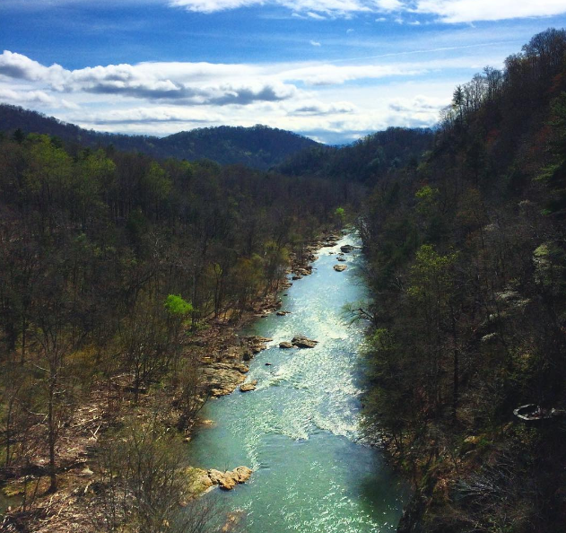 Roanoke River Gorge - Milepost 114.9 | 7 Iconic Overlooks on the Blue Ridge Parkway in Virginia's Blue Ridge | Photo by Instagram user georgia.m.robinson