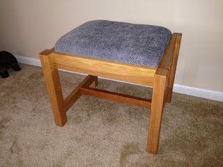 Swope's Fine WoodCrafting: Foot stool for Grandma.