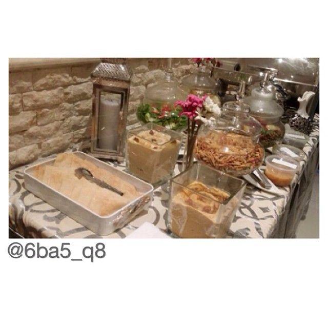 لقطة بوفيه عشا امس من مطبخ ام جراح قرت عيونكم برجعت الغالييين للطلب والاستفسار 96624441 Padgram Cuisine Gourmet Catering