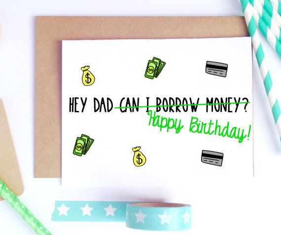 Dad Birthday Card Bday Funny For