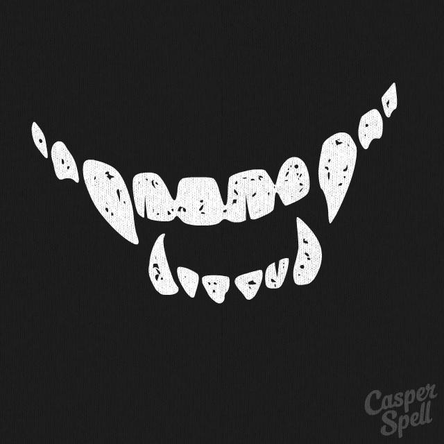 Every time you smile i smile creepy vampire teeth for Vampire teeth pumpkin stencils