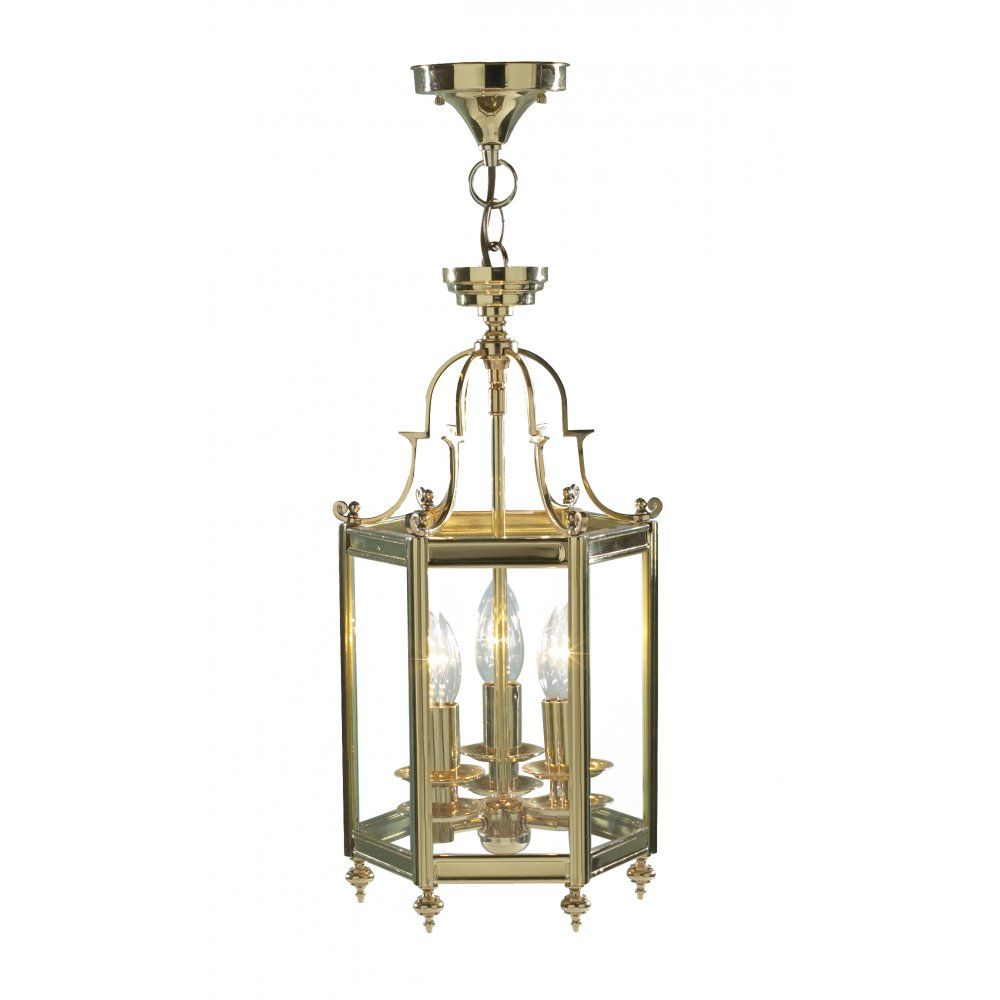 Cambridge Lighting MOORGATE traditional hall lantern in gold polished brass