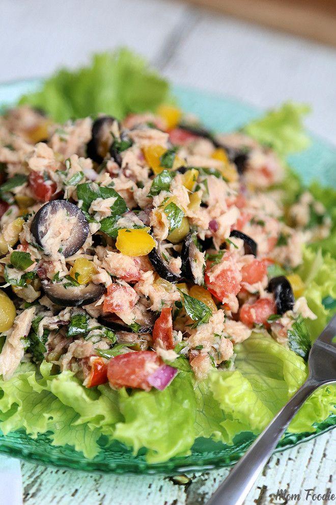 italian tuna salad no mayo from momfoodie salads galore pinterest salat italienischer. Black Bedroom Furniture Sets. Home Design Ideas