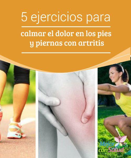 5 ejercicios para calmar el dolor en los pies y piernas..