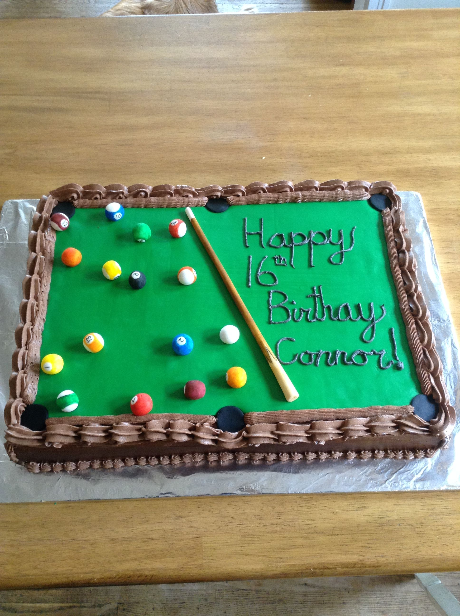 Pool Table Birthday Cake Cakes That I Have Made In 2019