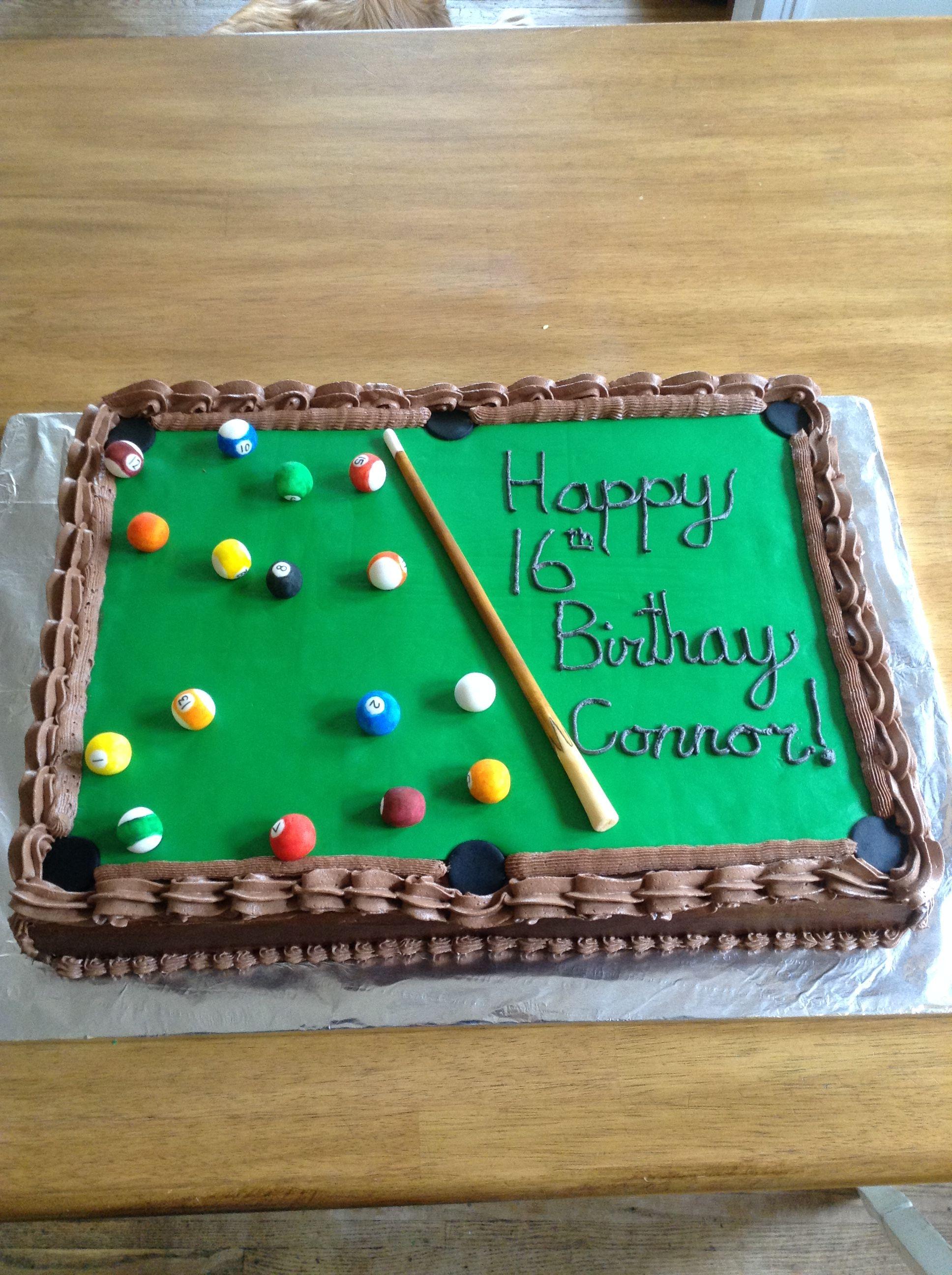 Pool Table Birthday Cake Pool Table Cake Grandma Birthday Cakes Pool Cake